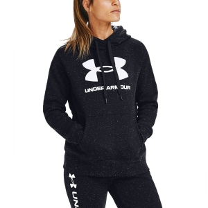 Women's Tennis Shirts and Hoodies Under Armour Rival Logo Hoodie  Black/White 13563180002
