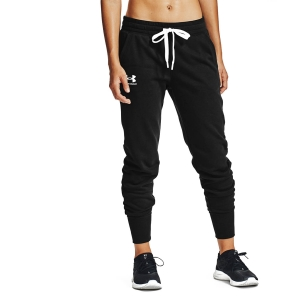 Women's Tennis Pants and Tights Under Armour Rival Joggers Pants  Black/White 13564160001