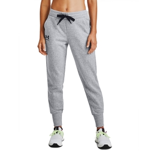 Women's Tennis Pants and Tights Under Armour Rival Joggers Pants  Steel Medium Heather/Black 13564160035