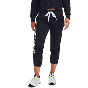 Women's Tennis Pants and Tights Under Armour Rival Shine Jogger Pants  Black/White 13564120002