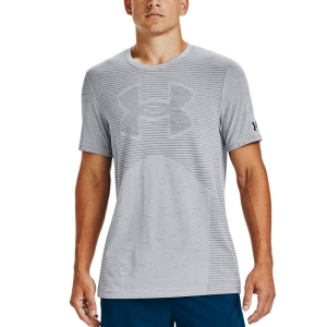 Camisetas de Tenis Hombre Under Armour Seamless Logo Camiseta  Halo Gray/Black 13567980014