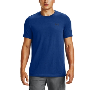 Camisetas de Tenis Hombre Under Armour Seamless Camiseta  Royal/Black 13514490400