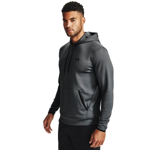 Men's Tennis Shirts and Hoodies Under Armour Solid Hoodie  Pitch Gray/Black 13570870012