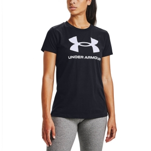 Camisetas y Polos de Tenis Mujer Under Armour Sportstyle Graphic Camiseta  Black/White 13563050001