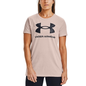 Camisetas y Polos de Tenis Mujer Under Armour Sportstyle Graphic Camiseta  Desert Rose/Black 13563050679