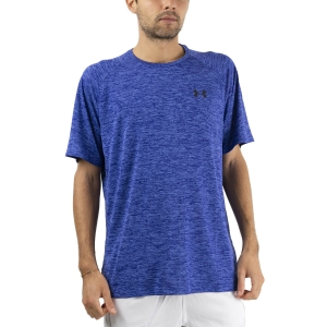 Camisetas de Tenis Hombre Under Armour Tech 2.0 Camiseta  Emotion Blue/Black 13264130403