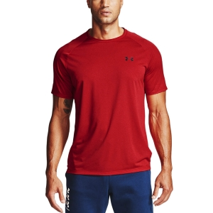 Camisetas de Tenis Hombre Under Armour Tech 2.0 Novelty Camiseta  Red/Black 13453170600