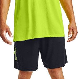 Men's Tennis Shorts Under Armour Tech Graphic 10in Shorts  Black/Lime Fizz 13064430004