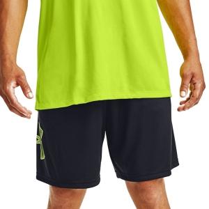 Pantalones Cortos Tenis Hombre Under Armour Tech Graphic 10in Shorts  Black/Lime Fizz 13064430004
