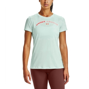 Camisetas y Polos de Tenis Mujer Under Armour Tech Twist Graphic Camiseta  Seaglass Blue/White/Beta 13563040403