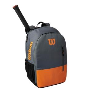 Tennis Bag Wilson Burn Team Backpack  Grey/Orange WR8009901