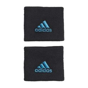 Tennis Wristbands adidas Performance Small Wristbands  Black/Sonic Aqua H38995