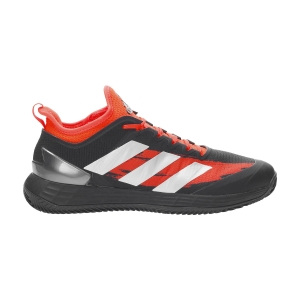 Men`s Tennis Shoes adidas Adizero Ubersonic 4 Clay  Core Black/Silver Met/Solar Red FZ5424