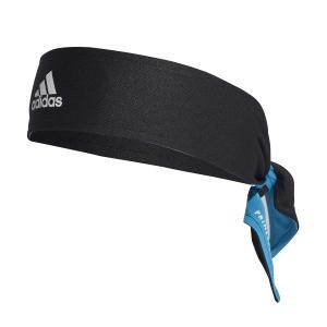 Fasce Tennis Adidas Aeroready Fascia  Black/White/Sonic Aqua H34471