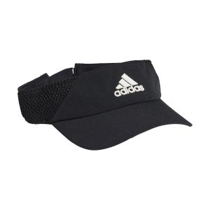 Tennis Hats and Visors Adidas AEROREADY Visor  Black/White GM6299
