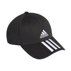 Tennis Hats and Visors Adidas Baseball 3 Stripes Cap  Black/White FK0894