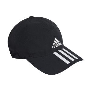 Tennis Hats and Visors Adidas Baseball 3 Stripes Logo Cap  Black/White GM6278