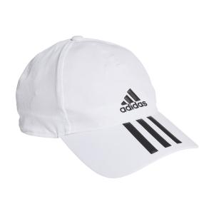 Tennis Hats and Visors Adidas Baseball 3 Stripes Logo Cap  White/Black GM4511