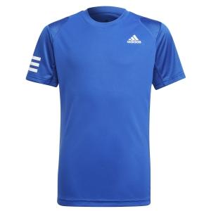 Tennis Polo and Shirts adidas Club 3Stripe TShirt Boy  Bold Blue/White H34768