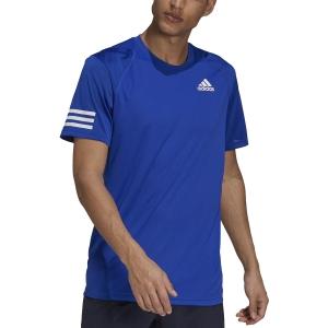 Maglietta Tennis Uomo adidas Club 3 Stripes Maglietta  Bold Blue/White H34690