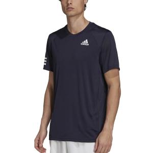 Men's Tennis Shirts adidas Club 3 Stripes TShirt  Legend Ink/White H34691