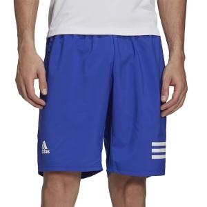 Pantalones Cortos Tenis Hombre adidas Club 3 Stripes 9in Shorts  Bold Blue/White H34712