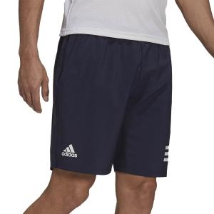 Pantalones Cortos Tenis Hombre adidas Club 3 Stripes 9in Shorts  Legend Ink/White H34711