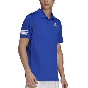Men's Tennis Polo adidas Club 3 Stripes Polo  Bold Blue/White H34699