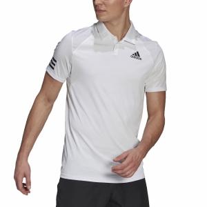 Men's Tennis Polo adidas Club 3 Stripes Polo  White/Black GL5416
