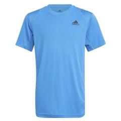 adidas Club T-Shirt Boy - Sonic Aqua/Black