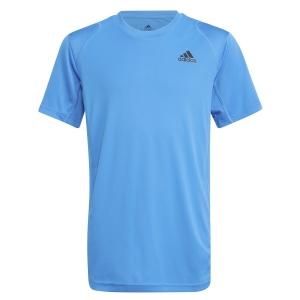Tennis Polo and Shirts adidas Club TShirt Boy  Sonic Aqua/Black H45414