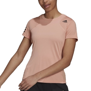 Camisetas y Polos de Tenis Mujer adidas Club Camiseta  Ambient Blush/Black H33703