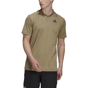 Men's Tennis Polo adidas Club Rib Polo  Orbit Green/Black H45412