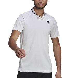 Polo Tennis Uomo adidas Club Rib Polo  White/Black GL5456