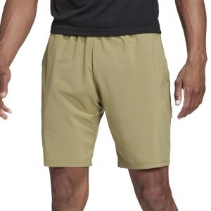 Pantalones Cortos Tenis Hombre adidas Club Stretch Woven 7in Shorts  Orbit Green/Black H34710
