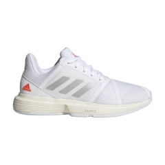adidas CourtJam Bounce - Ftwr White/Silver Met/Solar Red