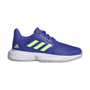 Scarpe Tennis Junior Adidas CourtJam Bambino  Sonic Ink/Signal Green/Ftwr White H68132