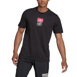 Camisetas de Tenis Hombre adidas Dominic Thiem Logo Camiseta  Black HG2148