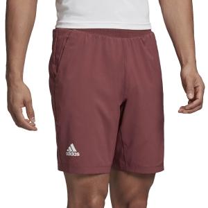 Pantaloncini Tennis Uomo Adidas Ergo 9in Pantaloncini  Legacy Red/White FT5808