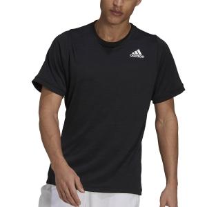 Maglietta Tennis Uomo adidas Freelift Aeroready Maglietta  Black/White H50280