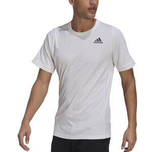 Maglietta Tennis Uomo adidas Freelift Aeroready Maglietta  White/Black H50281