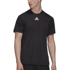 Men's Tennis Shirts adidas Freelift Logo TShirt  Black H50265