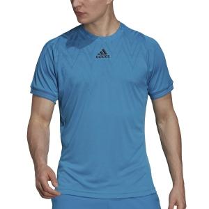 Men's Tennis Shirts adidas Freelift Logo TShirt  Sonic Aqua H31410