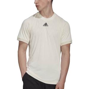 Men's Tennis Shirts adidas Freelift Logo TShirt  Wonder White H31412