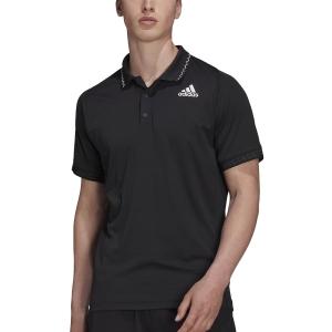 Men's Tennis Polo adidas Freelift Logo Polo  Black H50264