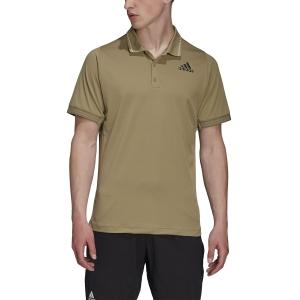 Polo Tenis Hombre adidas Freelift Logo Polo  Orbit Green H31374