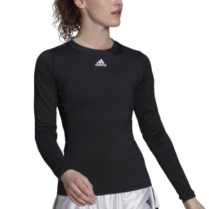 Women's Tennis Shirts and Hoodies adidas Freelift Shirt  Black/White GV1515
