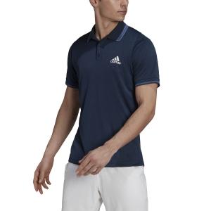 Men's Tennis Polo adidas Freelift Polo  Crew Navy/White/Crew Blue GL5397