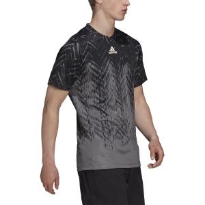 Camisetas de Tenis Hombre adidas Freelift Primeblue Camiseta  Grey Five GT7819