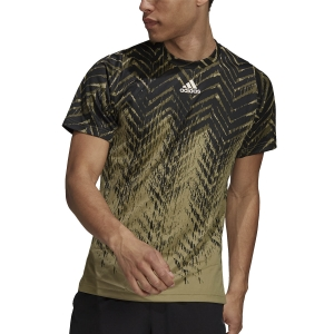 Camisetas de Tenis Hombre adidas Freelift Primeblue Camiseta  Orbit Green H31121